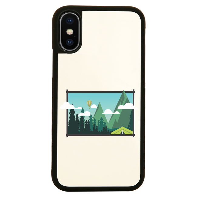 Camp landscape iPhone case cover 11 11Pro Max XS XR X - Graphic Gear