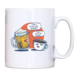 Beer vs coffee mug coffee tea cup - Graphic Gear