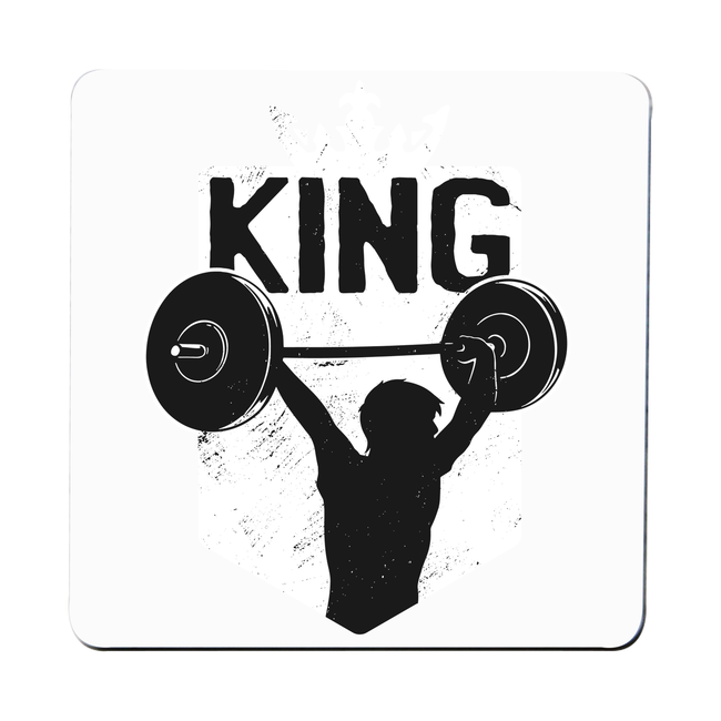 Weightlifting King coaster drink mat - Graphic Gear