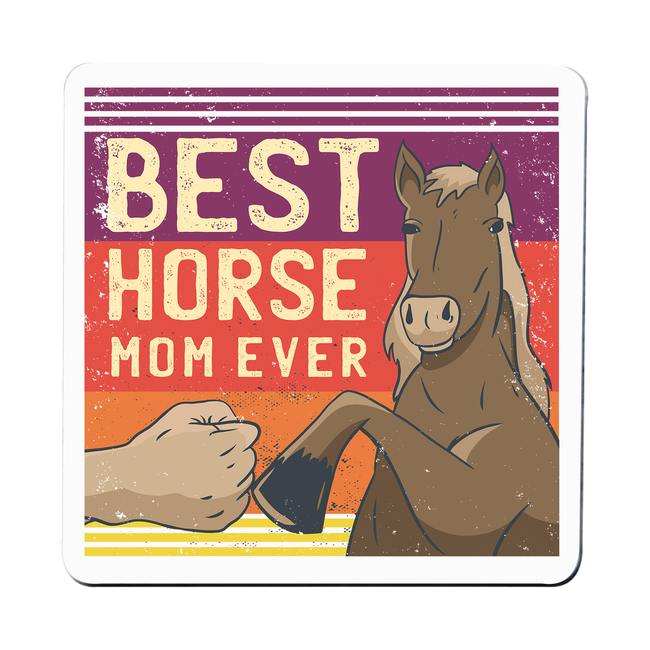 Best horse mom ever coaster drink mat - Graphic Gear