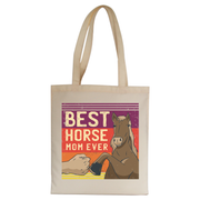 Best horse mom ever tote bag canvas shopping