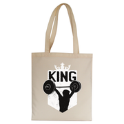 Weightlifting King tote bag canvas shopping