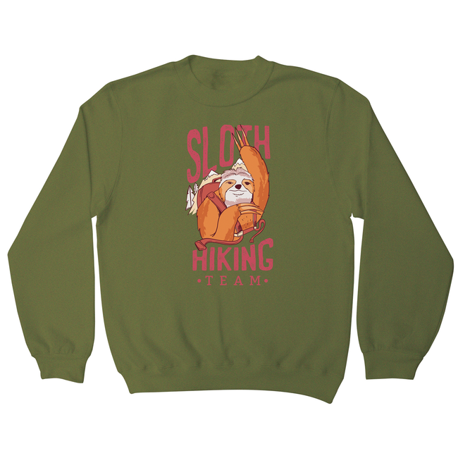 Sloth hiking team sweatshirt