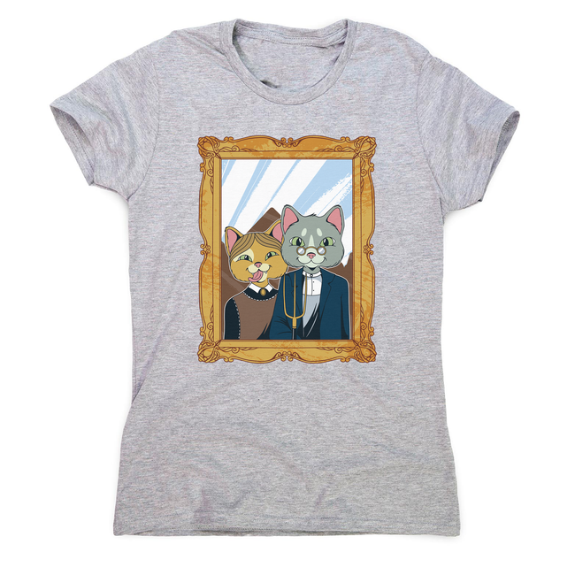 American gothic cat women's t-shirt - Graphic Gear
