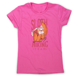 Sloth hiking team women's t-shirt - Graphic Gear