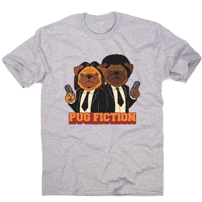 Pug fiction parody dog men's t-shirt - Graphic Gear