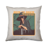 Coffee witch cushion cover pillowcase linen home decor - Graphic Gear