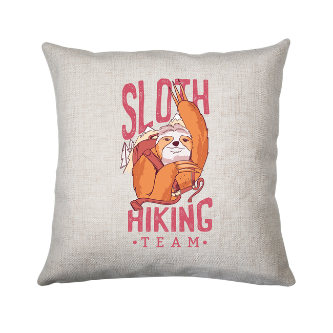 Sloth hiking team cushion cover pillowcase linen home decor - Graphic Gear