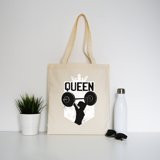 Weightlifting queen tote bag canvas shopping