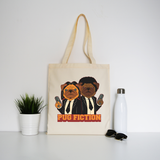 Pug fiction parody dog tote bag canvas shopping - Graphic Gear