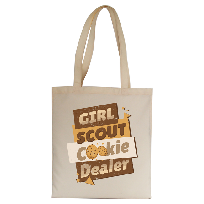 Girl scout quote tote bag canvas shopping - Graphic Gear