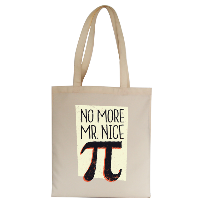 Mr nice pi tote bag canvas shopping