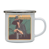 Coffee witch enamel camping mug outdoor cup colors - Graphic Gear