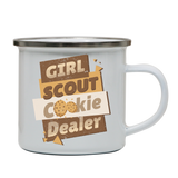 Girl scout quote enamel camping mug outdoor cup colors