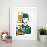 St. Patricks day beer print poster wall art decor - Graphic Gear