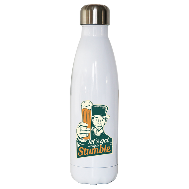 St. Patricks day beer water bottle stainless steel reusable - Graphic Gear