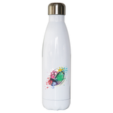 Watercolor rugby ball water bottle stainless steel reusable - Graphic Gear