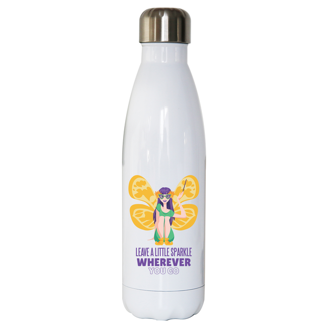 Mardi gras fairy water bottle stainless steel reusable - Graphic Gear