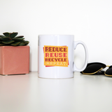Red recycle mug coffee tea cup - Graphic Gear