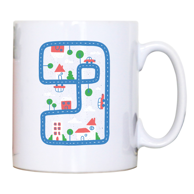 Kid city mug coffee tea cup