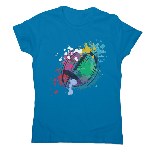 Watercolor rugby ball women's t-shirt - Graphic Gear