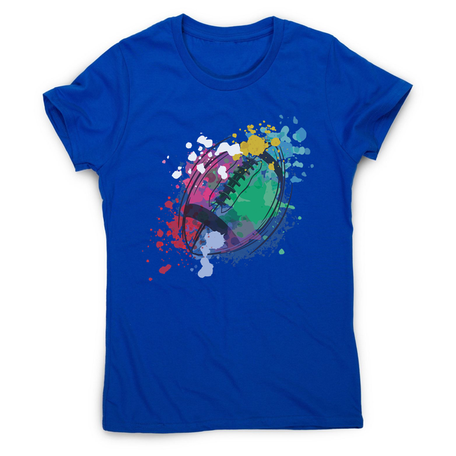 Watercolor rugby ball women's t-shirt