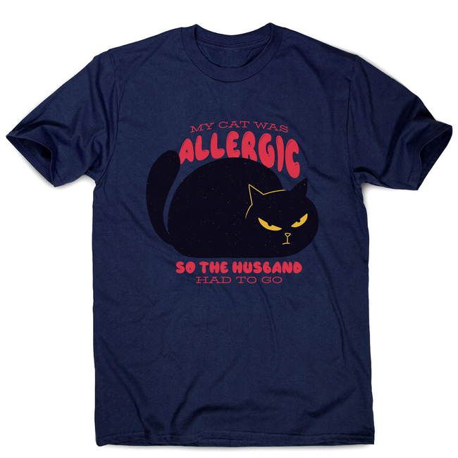 Allergic cat men's t-shirt