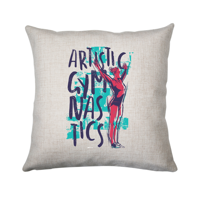 Artistic gymnast cushion cover pillowcase linen home decor - Graphic Gear