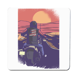 Road biker coaster drink mat - Graphic Gear