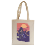 Road biker tote bag canvas shopping