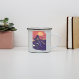 Road biker enamel camping mug outdoor cup colors - Graphic Gear