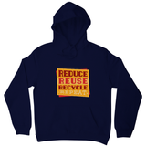 Red recycle hoodie