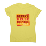 Red recycle women's t-shirt - Graphic Gear