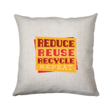 Red recycle cushion cover pillowcase linen home decor - Graphic Gear