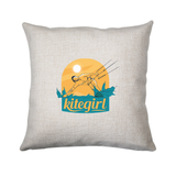 Kite girl cushion cover pillowcase linen home decor - Graphic Gear