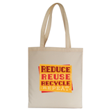 Red recycle tote bag canvas shopping