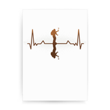 Heartbeat mountaineer print poster wall art decor