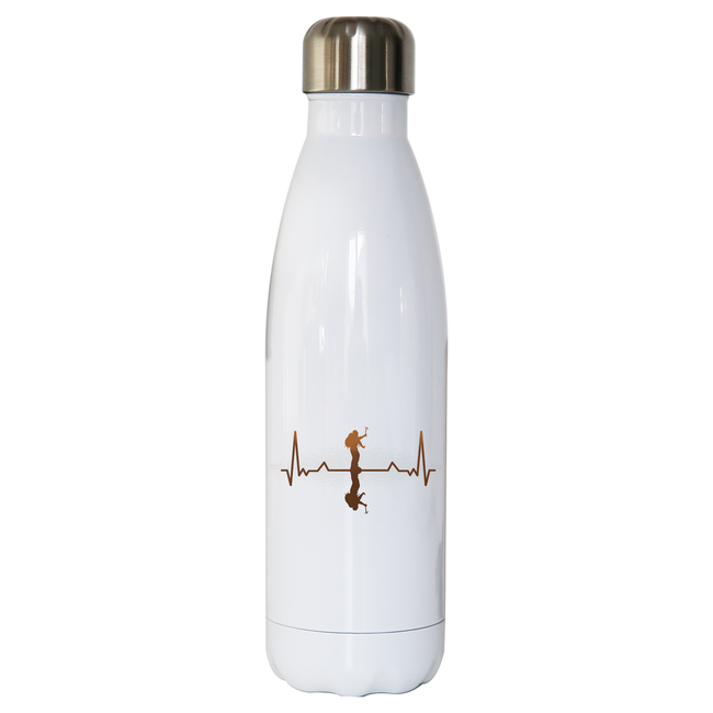 Heartbeat mountaineer water bottle stainless steel reusable - Graphic Gear