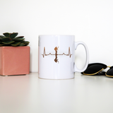 Heartbeat mountaineer mug coffee tea cup