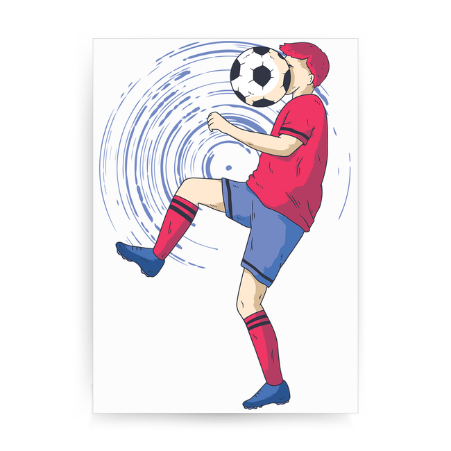 Funny soccer print poster wall art decor
