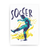 Soccer grunge color print poster wall art decor
