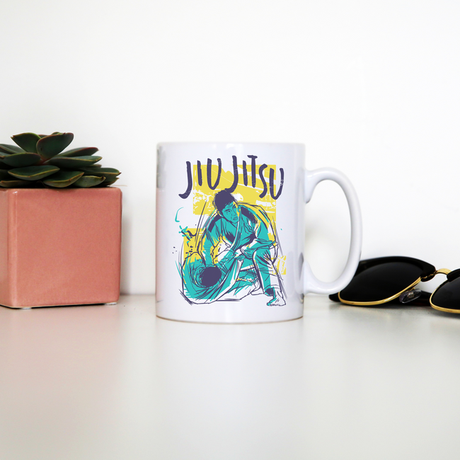Jiu jitsu grunge color mug coffee tea cup - Graphic Gear
