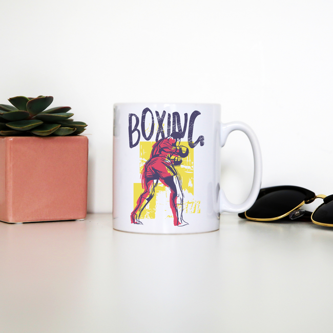 Boxing sports grunge mug coffee tea cup - Graphic Gear