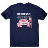 Depresso coffee quote men's t-shirt - Graphic Gear
