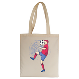 Funny soccer tote bag canvas shopping