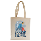 Serious gamers tote bag canvas shopping