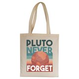 Pluto quote tote bag canvas shopping