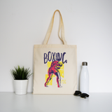 Boxing sports grunge tote bag canvas shopping
