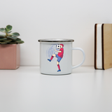 Funny soccer enamel camping mug outdoor cup colors - Graphic Gear
