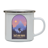 Hiking quote enamel camping mug outdoor cup colors
